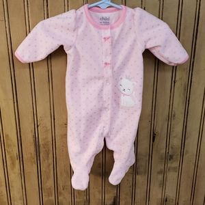 Sweet pink and silver kitty nb onesie